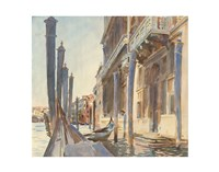 Gondola Moorings on the Grand Canal, 1904/07 Fine Art Print