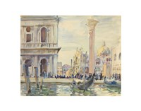 The Piazzetta, c. 1911 Fine Art Print