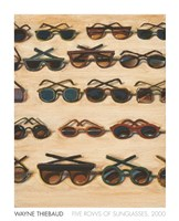 Five Rows of Sunglasses, 2000 Framed Print