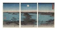 Kanazawa in Moonlight, 7th month, 1857 Fine Art Print