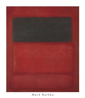 Black over Reds [Black on Red], 1957 Fine Art Print