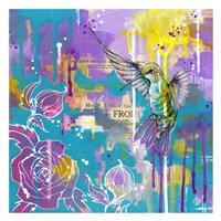A Hummingbird's Folly Fine Art Print