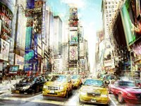 Times Square Multiexposure I Fine Art Print