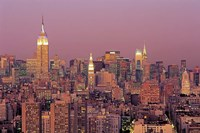 Sunset over Manhattan Fine Art Print