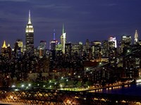 Midtown Manhattan at Night 1 Fine Art Print