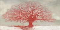 Red Tree Framed Print