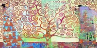 Klimt's Tree of Life 2.0 Framed Print