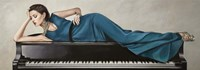 Piano Lady Fine Art Print