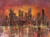 Sunset in New York Fine Art Print