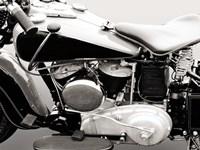 Vintage American V-Twin Engine (detail) Fine Art Print