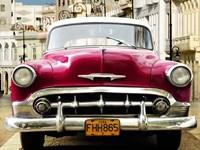 Classic American Car in Habana, Cuba Fine Art Print