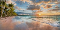 Beach in Maui, Hawaii, at sunset Fine Art Print
