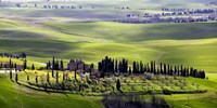 Country houses in Tuscany Fine Art Print