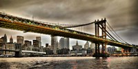 Manhattan Bridge and New York City Skyline, NYC Fine Art Print