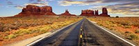 Road to Monument Valley, Arizona Framed Print
