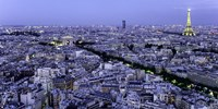 Aerial View of Paris at Dusk Fine Art Print