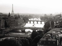 Bridges over the Seine River, Paris Fine Art Print