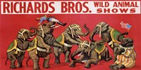 Richards Bros. Wild Animal Shows, ca. 1925 Fine Art Print