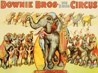Downie Bros. Big 3 Ring Circus, 1935 Fine Art Print