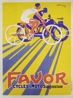 Favor Cycles et Motos, 1927 Framed Print