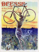 Bicycle Deesse, 1898 Framed Print