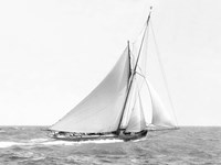 Cutter Sailing on the Ocean, 1910 Fine Art Print