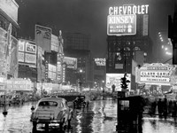 Times Square at Night, NYC, 1951 Fine Art Print