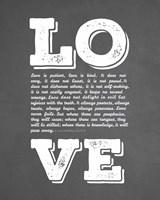 Corinthians 13:4-8 Love is Patient - Chalkboard Fine Art Print
