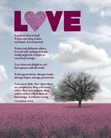 Corinthians 13:4-8 Love is Patient - Pink Field Fine Art Print