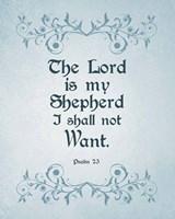 Psalm 23 The Lord is My Shepherd - Blue Fine Art Print
