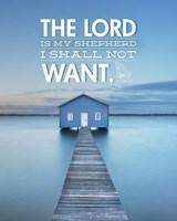 Psalm 23 The Lord is My Shepherd - Lake Fine Art Print