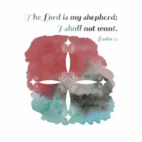 Psalm 23 The Lord is My Shepherd - Cross 2 Framed Print