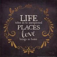 Love Brings Us Home Framed Print