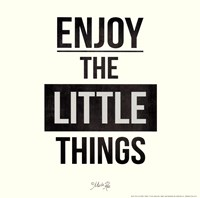 Enjoy The Little Things Framed Print