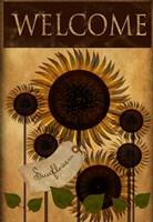 Sunflowers Welcome Fine Art Print
