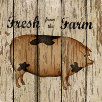 Farm Fresh Pork Framed Print