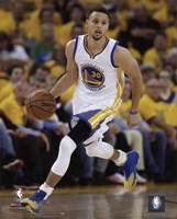 Stephen Curry 2016 NBA Playoff Action Framed Print