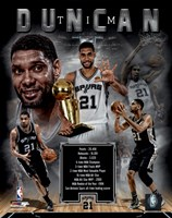Tim Duncan Legends Composite Framed Print