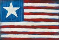Modern Americana Flag Fine Art Print