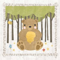 Woodland Hideaway Bear Framed Print