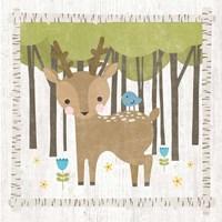 Woodland Hideaway Deer Framed Print