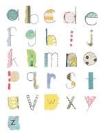 Alphabet II Framed Print