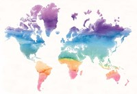 Watercolor World Fine Art Print