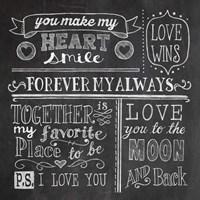 Inspiration Chalkboard I Framed Print