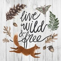 Live Wild and Free Fine Art Print