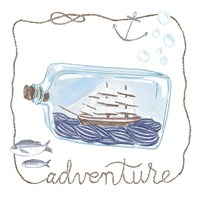 Ship in a Bottle Adventure Framed Print