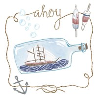 Ship in a Bottle Ahoy Fine Art Print