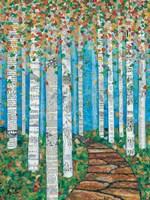 Falling Birch Leaves Fine Art Print