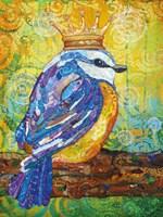 Baby Bird with Crown Fine Art Print