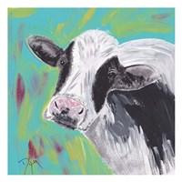 Farm Life Cow Framed Print